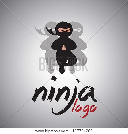 ninja logo 3 concept designed in a simple way so it can be use for multiple proposes like logo ,marks ,symbols or icons.