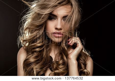Beauty Portrait Of Elegant Girl.