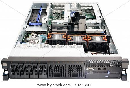 Rackmount Server On White