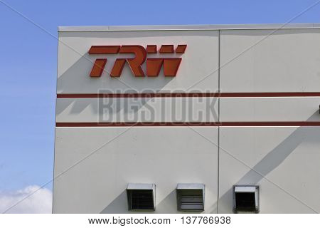 Lafayette IN - Circa July 2016: TRW Automotive Location. TRW Was Acquired By ZF Friedrichshafen AG in 2015 I