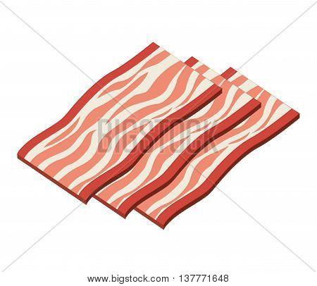 bacon product isolated icon design, vector illustration  graphic