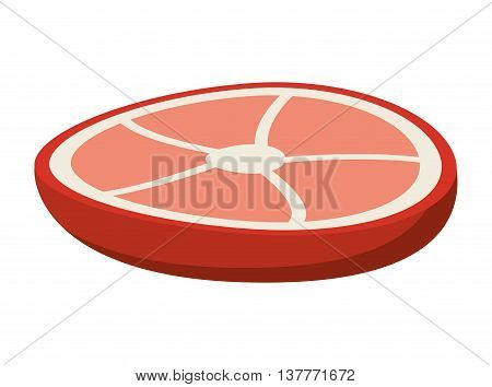 beef steak isolated icon design, vector illustration  graphic
