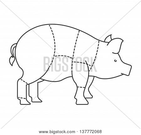 pork meat isolated icon design, vector illustration  graphic