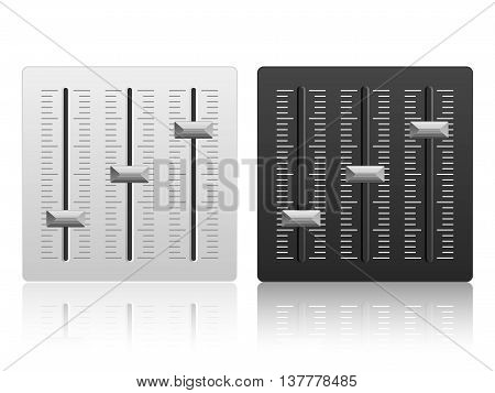 Mixing console icon on a white background.