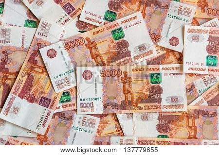 Russian Five Thousand Money Background