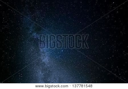 night photography starry sky summer countryside Ukraine