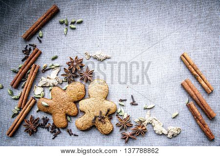 Biscuit Star Anise Cardamom Nutmeg Cinnamon Ginger Clove Spice