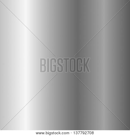 Silver metal plate texture. Light realistic shiny metallic empty vertical gradient template. Abstract gray decoration. Design for wallpaper background wrapping fabric etc. Vector Illustration.