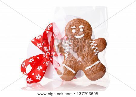 cookie man food Isolated on white background