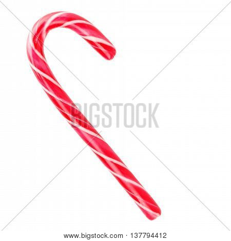 red candy lollipop Isolated on white background