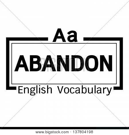 an images of ABANDON english word vocabulary illustration design