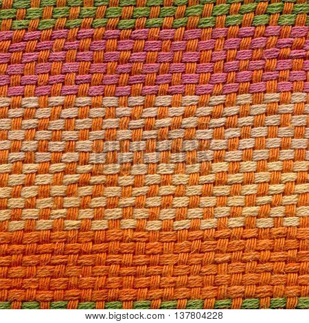 Texture dense weave cloth made of thick yarn, satin