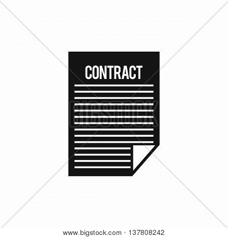 Contract icon in simple style isolated vector illustration