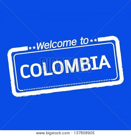 an images of Welcome to COLOMBIA illustration design
