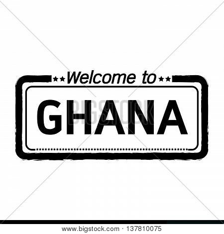 an images of Welcome to GHANA illustration design