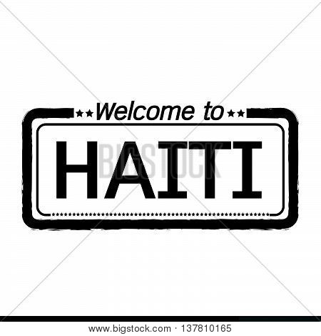 an images of Welcome to HAITI illustration design