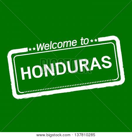 an images of Welcome to HONDURAS illustration design