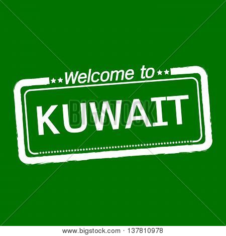 an images of Welcome to KUWAIT illustration design
