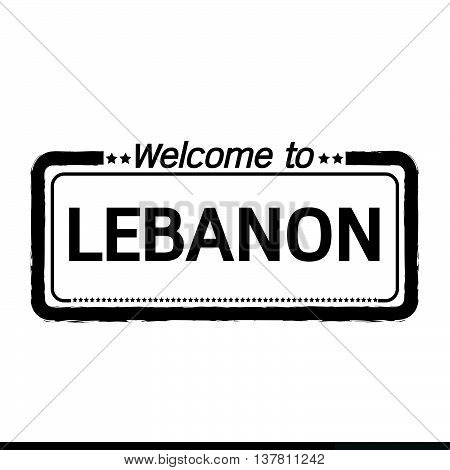an images of Welcome to LEBANON illustration design