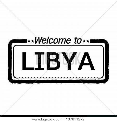 an images of Welcome to LIBYA illustration design