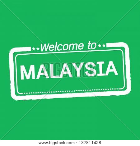 an images of Welcome to MALAYSIA illustration design