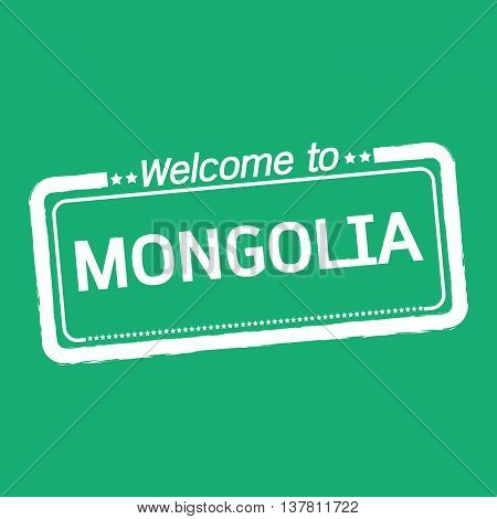 an images of Welcome to MONGOLIA illustration design