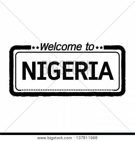 an images of Welcome to NIGERIA illustration design