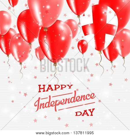 Georgia Vector Patriotic Poster. Independence Day Placard With Bright Colorful Balloons Of Country N
