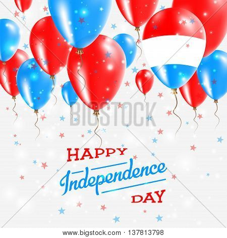 Luxembourg Vector Patriotic Poster. Independence Day Placard With Bright Colorful Balloons Of Countr