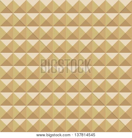 Abstract golden studded seamless pattern background. Vector illustration.