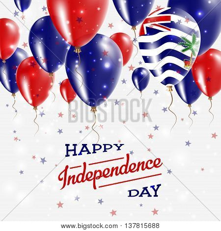 British Indian Ocean Territory Vector Patriotic Poster. Independence Day Placard With Bright Colorfu