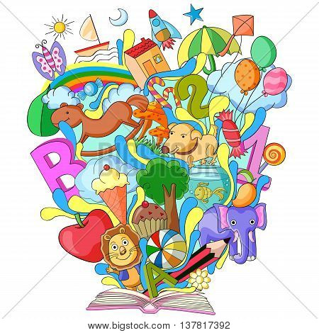 vector illustration of Book of Knowledge for Kids