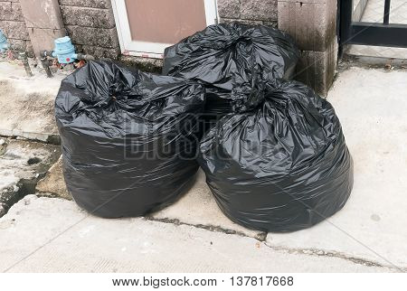 big garbage bag placed on the home page