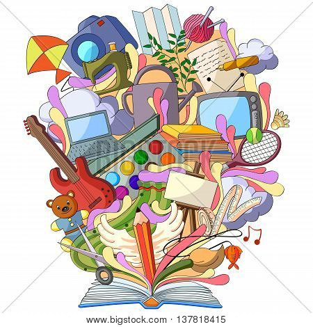 vector illustration of Book of Knowledge for Art and Craft Hobby