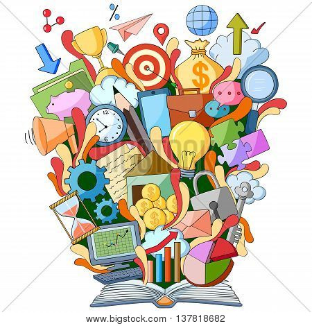 vector illustration of Book of Knowledge for Business and Accounting