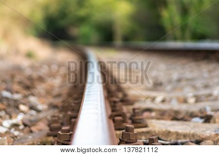 Blurred Railway Track