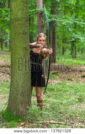 Young Lady Elf With A Long Bow