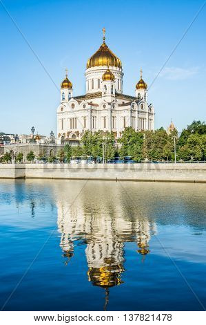 Majestic Orthodox Cathedral Of Christ The Saviour, Russia