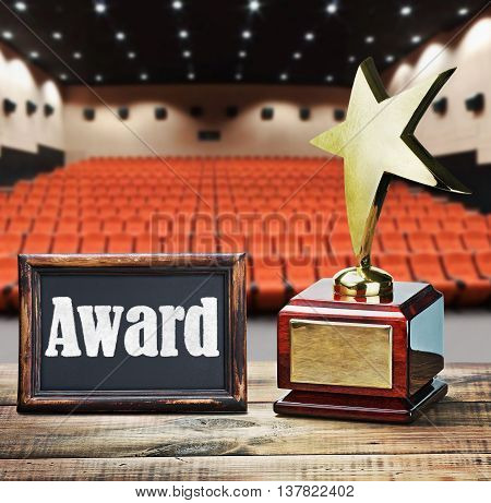 Star award for service to the background of the auditorium and the blackboard