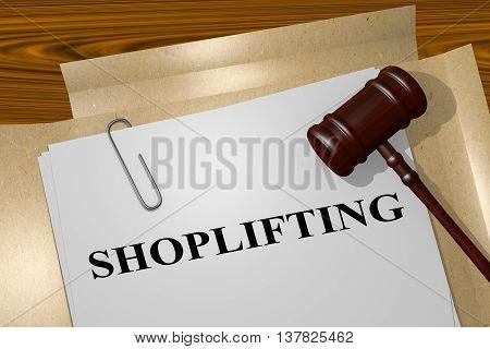 Shoplifting Legal Concept