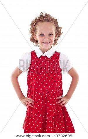 A Beautiful Girl Standing