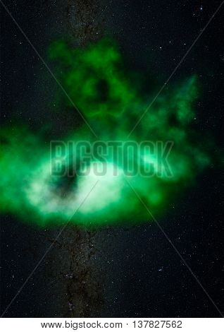Far being shone nebula and star field against space. Elements of this image furnished by NASA.