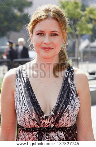 Jenna Fischer at the 2008 EMMY Creative Arts Awards held at the Nokia Theater in Los Angeles, USA on September 13, 2009.