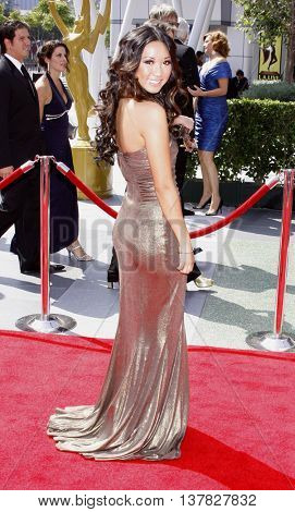 Brenda Song at the 2008 EMMY Creative Arts Awards held at the Nokia Theater in Los Angeles, USA on September 13, 2009.