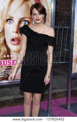 Emma Stone at the Los Angeles premiere of 'House Bunny' held at the Mann Village Theatre in Westwood, USA on August 20, 2008.