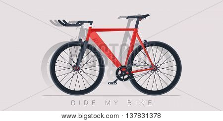 Bicycle vector illustration. Realistic style. Sport Bike icon