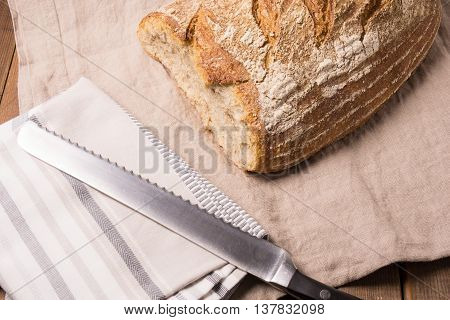 Loaf of fresh baked Organic whole wheat bread