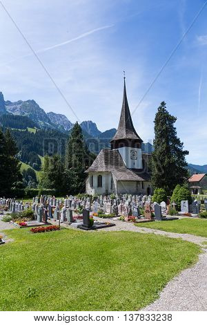 Church In Rougemont Vaud Canton Switzerland