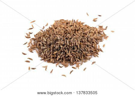 Heap Of Dry Caraway Seeds
