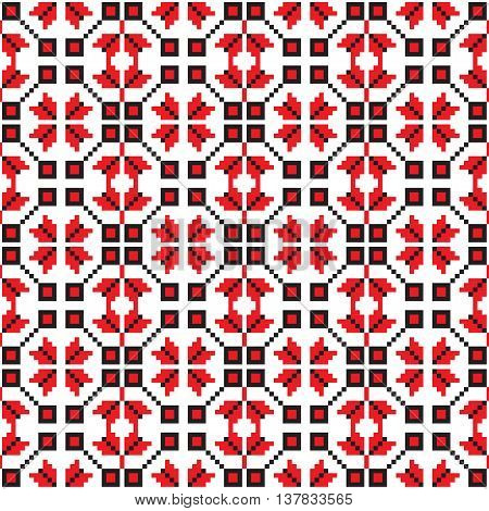 seamless pattern with old ethnic traditional belarusian, slavic, ukranian ornate. Vector background. Design for fabric, textile, wallpaper, packaging, clothes